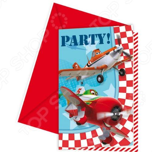 Приглашения в конвертах Procos «Самолеты» Приглашения в конвертах Procos «Самолеты» /