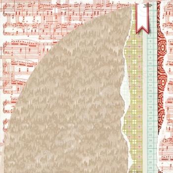 фото Бумага для скрапбукинга двусторонняя Basic Grey Through the Snow, купить, цена