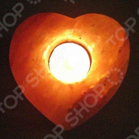 Подсвечник солевой «Сердце» - артикул: 3665