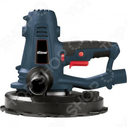 Машина шлифовальная орбитальная Stomer SRS-1100 с регулировкой скорости вращения, встроенной системой пылеотвода, гибкой опорной шлифовальной тарелкой. Эластичная накладка на основной рукоятке. Удобный двойной плечевой ремень. Размеры подошвы  225 мм. Размеры шлифовальной ленты  215 мм.