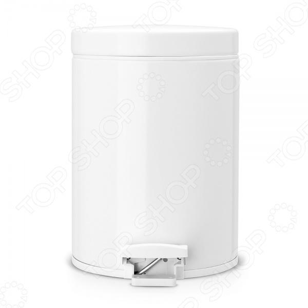 Бак для мусора  педалью Brabantia. Объем: 5 литров. Цвет: белый. Уцененный товар