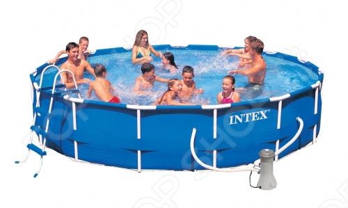 Бассейн каркасный Intex 54942 - это яркий, сделанный из прочного материала бассейн для всей семьи, который принесет море прямо к вам на задний двор, а также улыбку на лице детишек. Бассейн может быть установлен практически на любой площадке. Отличное решение для родителей, которые хотят искупать или просто приучить своих детей не боятся воды. Разумная цена, хорошее качество и море позитива.