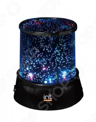 Ночник Irit IRM-400Ночники<br>Ночник Irit IRM-400 создаст эффект звездного неба в комнате. Достаточно погасить свет и включить гаджет, чтобы создать романтическую атмосферу. На выбор доступно два режима: яркие звезды и четырехцветное светодиодное сияние. Этот гаджет проецирует наиболее известные созвездия на стены и потолок. Ночник подойдет для любой комнаты, особенно детской. Группа компаний Irit занимается производством мелкой бытовой техники, хозяйственно-бытовых товаров и посуды. Из основных преимуществ их продукции выделяются отличное соотношение цена качество и максимальный контроль качества.<br>