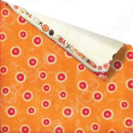 фото Бумага для скрапбукинга двусторонняя Prima Marketing Button-Up, купить, цена