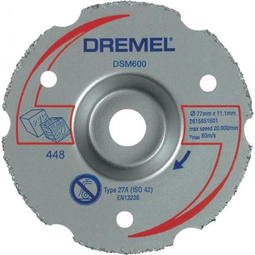 Диск отрезной твердосплавный Dremel DSM600 диск шлифовальный импрегнированный dremel sc541