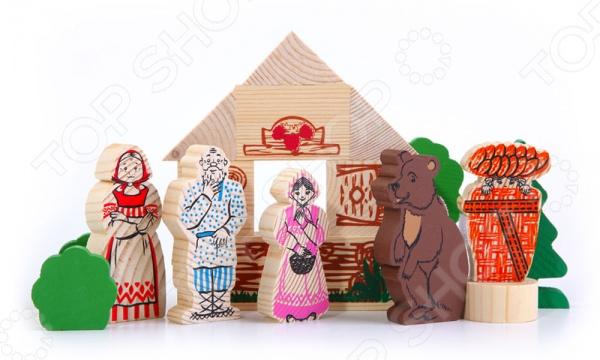 Конструктор для малышей Томик «Маша и медведь» конструктор для малышей томик курочка ряба