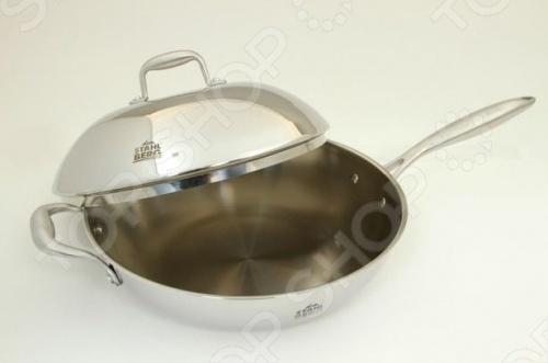 Сковорода вок с крышкой Stahlberg OSTEN 1617-S сковорода stahlberg magic color 26 см