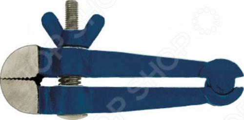 Тиски-струбцина FIT 59455Зажимной инструмент<br>Тиски-струбцина FIT IT применяются для зажатия и фиксации деталей при сборке, склеивании, а также при столярной и слесарной обработке. Материал конструкции - чугун, который отличается высокой прочностью, что обеспечивает долгий срок службы инструмента. Данное устройство рассчитано на высокие нагрузки при интенсивном использовании.<br>