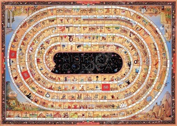 Игра Пазл была изобретена более двухсот лет назад в Англии и с тех пор не теряет своей актуальности, продолжая с каждым годом набирать всю большую и большую популярность у поклонников развивающих игр и головоломок. Объясняется все тем, что собирание пазлов это не просто интересное и увлекательное времяпрепровождение, а возможность самостоятельно создать чудесную картину. Пазл 4000 элементов Heye История Мира опус 1 Marino Degano станет прекрасным подарком как для ребенка, так и для взрослого. По утверждениям психологов, собирание головоломки способствует развитию цветового восприятия, мелкой моторики рук, воображения и когнитивного мышления; делает вас более усидчивым, внимательным и организованным. После же, сложенную картину можно склеить с помощью специального клея для пазлов и украсить ею интерьер комнаты. Пазлы изготовлены из плотных материалов; отличаются яркой цветовой гаммой, высоким качеством полиграфии и точной нарезкой деталей, обеспечивающей их хорошую стыковку друг с другом. Размер сложенного изображения 136х96 см.
