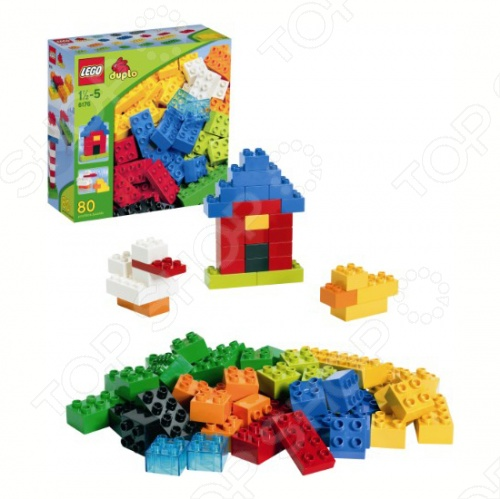 Конструктор LEGO Основные элементы - это 80 ярких разноцветных деталей различных размеров, которые открывают практически безграничные просторы для творчества и послужат отличным дополнением к другим конструкторам серии Duplo. Ребенок сможет построить домики, башенки, машинки, растения, животных и многое другое, ограничение - только его фантазия. Такие конструкторы очень полезны, ведь они развивают мелкую моторику рук, пространственное мышление и логику. Конструктор LEGO Основные элементы рассчитан на самых маленьких детей, от 18 месяцев: детали крупные, безопасные, удобные для маленьких ручек. В наборе кубики красного, зеленого, желтого, синего, оранжевого, светло-зеленого, белого и черного цветов. Конструктор LEGO Основные элементы содержит 80 деталей и краткий перечень вариаций сборки на коробке.