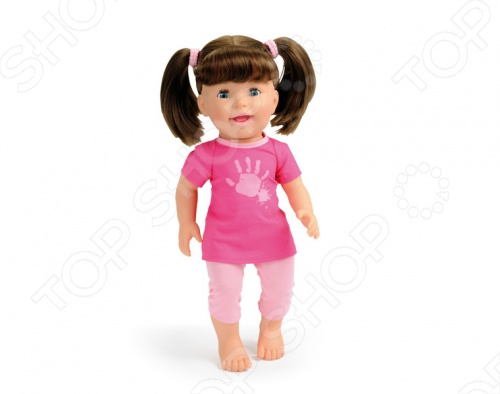 Кукла интерактивная Smoby хулиганка Lili - станет замечательным подарком для любой девочки. Малышка Лили показывает язык, а если ее пощекотать, то она засмеется. В комплект входит ложка для кормления, пирожное и бутылочка для питья. Если ложечку поднести ко рту куклы, то происходит имитация кормления. Высота куклы - 37 см. Работает от 3 батареек типа АА.