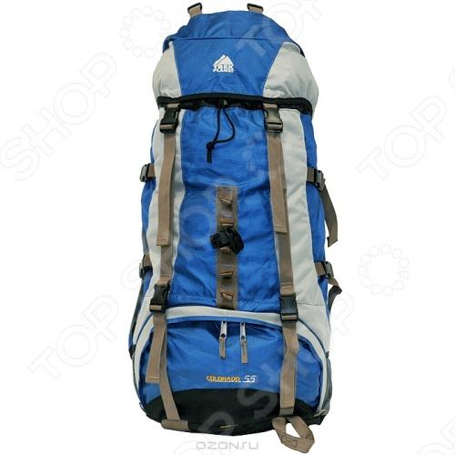 Рюкзак походный Trek Planet Colorado 55Туристические рюкзаки и аксессуары<br>Туристический рюкзак объемом 55 л с лямками анатомической формы, петлями для крепления лыж и допснаряжения, отделением для мокрой одежды, множеством карманов и накидкой от дождя.<br>