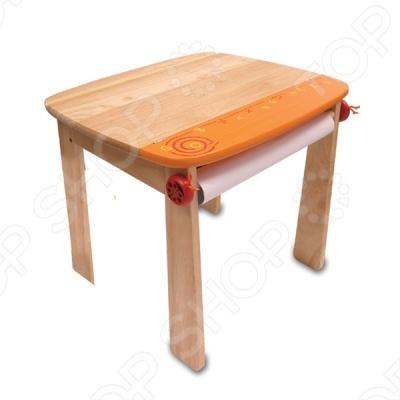 Стол для рисования оранжевый с держателем для рулона бумаги и контейнером понравится как вашему малышу. Устойчивый стол из дерева с закругленными углами для безопасности малыша. Под столешницей крепиться рулон бумаги нет в наборе для фантазий вашего ребенка. Стол изготовлен из ценных, редких видов деревьев. Для окраски применяются стойкие краски, не содержащие фенол. Теперь малыш сможет заниматься любимым делом, сидя за настоящей партой.