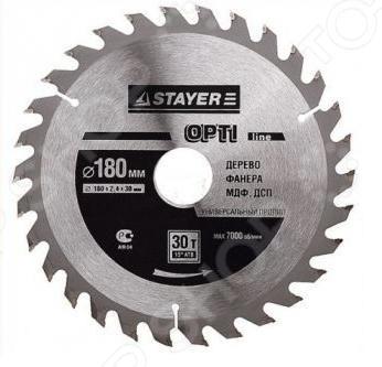 Диск пильный по дереву Stayer OPTI-Line пильный диск по дереву 216x1 8x30 мм metabo 628065000