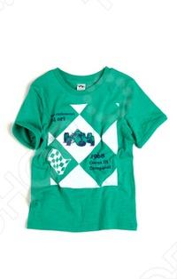 Футболка с рисунком Appaman Racecar ArgyleФутболки для мальчиков<br>Appaman - основан в 2003 году дизайнером Харальдом Хузуме. Appaman имеет уникальный взгляд на скандинавский стиль AMERIPOP. Хузум находит вдохновение на улицах Бруклина и переводит его в свою постоянно меняющуюся палитру ярких одежд. Appaman, воплощая свои яркие творческие проекты, не забывает об удобстве и качестве для маленьких и главных людей. Вы считаете, что детская одежда должна быть не только удобной, но также стильной и индивидуальной Тогда бренд Appaman USA для Вас! Футболка с рисунком Appaman Racecar Argyle -стильная футболка свободного покроя, выполненная из натурального материала. Модель с коротким рукавом, оформленный контрастной отделкой, с округлым вырезом горловины и украшенная ярким принтом. Состав: 100 хлопок.<br>