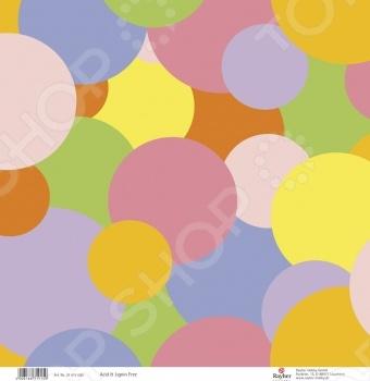 фото Бумага для скрапбукинга Rayher «Цветные круги», купить, цена