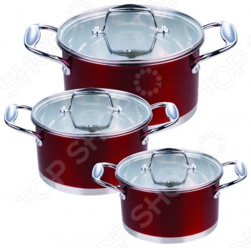 Набор кухонной посуды Rainstahl RS-1063Наборы посуды для готовки<br>Набор кухонной посуды Rainstahl RS-1063 это объемные кастрюли с высококачественным покрытием, прекрасно подходит для жарки, пассировки и тушения. Благодаря специальному покрытию, в них можно приготовить разнообразные блюда из мяса, рыбы, птицы и овощей практически не используя масло. Интересный дизайн посуды отлично впишется в вашу кухню.<br>