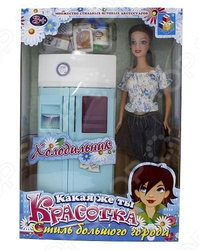 Набор мебели с куклой 1 TOY «Холодильник»