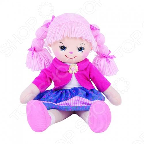 Мягкая кукла Gulliver Земляничка с двумя косичками игрушка мягкая gulliver кукла хозяюшка 30см