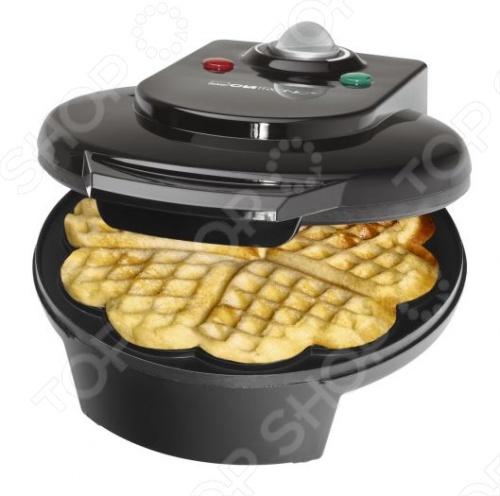 Вафельница Clatronic WA 3491 приготовит для вас толстые бельгийские вафли. Наливаете тесто в форму и через 4-5 минут изделие готово. Форма рассчитана на 5 вафель. Намазав готовые изделия вареньем или посыпав их сахарной пудрой, вы получите вкуснейшие десерты. За счет антипригарного покрытия форм, тесто не прилипает к поверхности, а сам прибор не доставит сложностей при мытье. Устройство оснащено ненагревающимися ручками, так что вы сможете безопасно извлечь готовые вафли. Вафельница Clatronic WA 3491 выпекает изделия в форме сердечек, так что вафли станут настоящим украшением праздничного стола. Благодаря защите от перегрева прибор послужит вам долго. Плавная регулировка термостата позволяет добиться необходимой степени поджаривания, а два световых индикатора помогут следить за приготовлением. Благодаря верхнему и нижнему нагревательному элементу вафли равномерно прожариваются с обеих сторон.