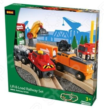 Железная дорога Brio с подъемниками, переездами, грузами и поездом