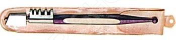 Стеклорез алмазный FIT 4 представляет собой специализированное приспособление для точного и аккуратного разрезания стекла толщиной не более 5 мм. Он станет отличным дополнением к набору ваших инструментов и пригодится при проведении ремонтных, строительных и отделочных работ. Стеклорез изготовлен из высококачественных износостойких материалов, практичен и долговечен в использовании. Ресурс стеклореза до 10000 метров.