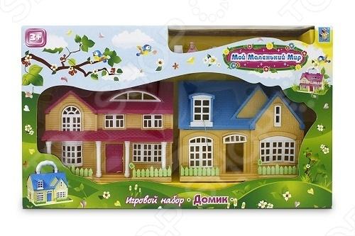 Домик игровой 2 в 1 с аксессуарами и фигурками 1 Toy Т52953 hasbro play doh игровой набор из 3 цветов цвета в ассортименте с 2 лет