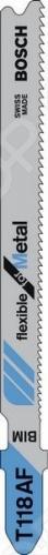 Набор пилок для лобзика Bosch T 118 AF BIM