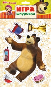 Игра-шнуровка Маша  Медведь «Миша»