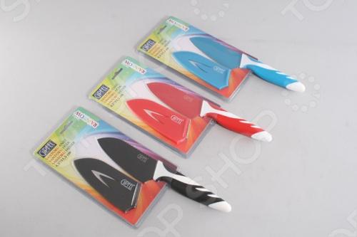 Нож сантоку в пластиковом чехле Gipfel Rainbow 6748 нож удар ст 65х13 в чехле