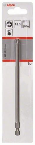 Бита Bosch Extra Hart PZ, ISO 1173 E6.3 набор бит bosch extra hart hex iso 1173 c6 3