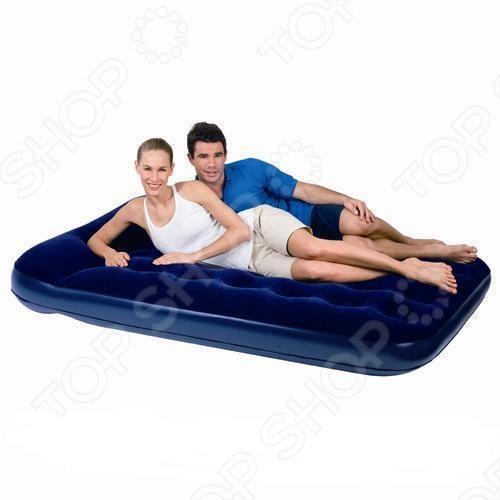 Кровать надувная 2-спальная Bestway 67225 надувная мебель bestway flocked air bed double 67225