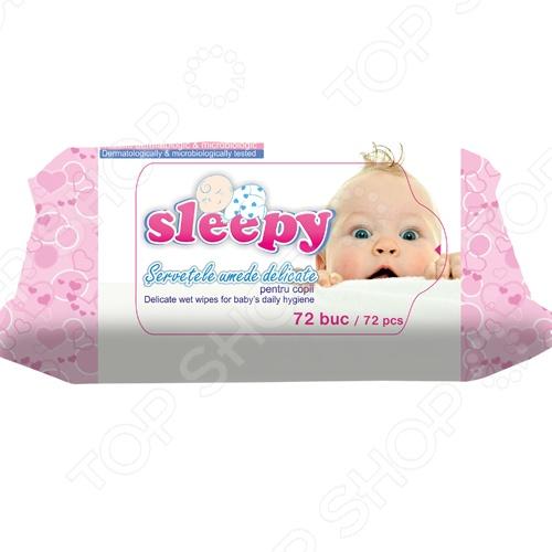 фото Влажные салфетки для чувствительной кожи Sleepy ЯВ108582, Полотенца. Салфетки для купания