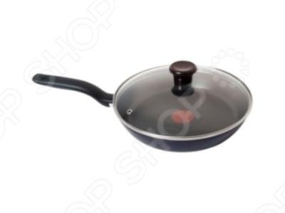 Сковорода с крышкой Tefal Tendance сковорода tefal 26 tendance black current цвет черная смородина ручка черная
