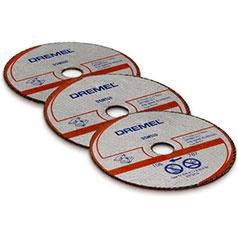 Диск отрезной для металла и пластмассы Dremel DSM510Диски пильные<br>Диск отрезной для металла и пластмассы Dremel DSM510 представляет собой надежное и практичное приспособление, предназначенное для резки таких материалов как металл, алюминий, стекло или пластмасса. Модель предназначена для использования только с инструментами марки Dremel.<br>