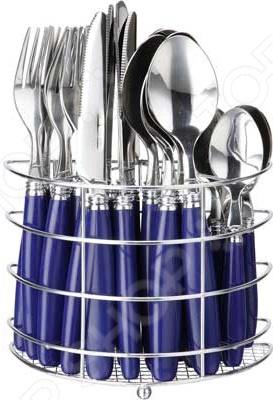 Набор столовых приборов Bekker BK-3303Столовые приборы<br>Набор столовых приборов Bekker BK-3303 это сочетание высокого качества и стильного и оригинального дизайна. Этот набор подойдет для сервировки праздничного стола, или дополнит набор ваших кухонных принадлежностей и хорошо впишется в дизайн современной кухни. Набор рассчитан на 6 персон всего 25 предметов: 6 столовых ложек, 6 вилок, 6 ножей, 6 чайных ложек и подставка .<br>