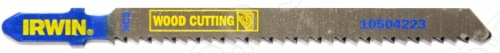 Пилки для электролобзика IRWIN T101BR HCS пилки для лобзика по ламинату для прямых пропилов практика t101br 3 30 мм обратный зуб 2 шт