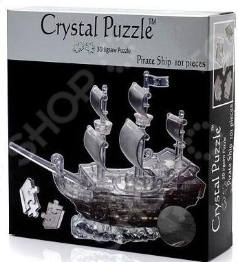Кристальный пазл 3D Crystal Puzzle «Пиратский корабль» кристальный пазл 3d crystal puzzle панда