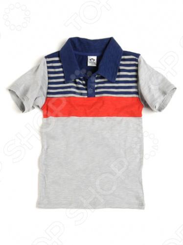 Футболка-поло детская Appaman Slub PoloФутболки. Маечки<br>Американский бренд Appaman вдохновлен детством! Он идеально подходит для тех, кто считает детская одежда должна быть не только удобной, но также стильной и индивидуальной. В ассортименте компании можно найти модели как для малышей, так и для школьников. Новая коллекция создает по-настоящему солнечное настроение. Богатство оттенков, как насыщенных, так и пастельных, является одной из отличительных черт бренда Appaman. Кроме того, многие изделия украшены оригинальными принтами и вышивкой. Футболка-поло детская Appaman Slub Polo комфортная футболка-поло, выполненная из качественного трикотажного полотна с рисунком в полоску.<br>