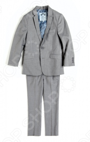 Костюм классический для малышей Appaman Suit Set. Цвет: серыйКостюмы. Комплекты<br>Классический костюм для малышей Appaman Suit Set это комплект для юного джентльмена. Великолепный костюм в английском стиле отличается изящным пошивом и прекрасным качеством ткани. Костюм состоит из пиджака и брюк. Брюки имеют эластичный пояс со шлевками и застежку с молнией и пуговицей. Благодаря внутренней резинке ширина талии легко регулируется. Пиджак пошит так же тщательно, как взрослые модели: есть застежка на пуговицах и декоративные пуговички на рукавах, нагрудный кармашек и боковые карманы, вытачки и подкладка из 100 полиэстера . Костюм для малышей Appaman Suit Set необходимый элемент гардероба для особых случаев. Он поможет с самых ранних лет развить у ребенка вкус в одежде и чувство стиля. Состав: 80 полиэстер, 20 вискоза. Подкладка: 100 полиэстер. Американский бренд Appaman основан в 2003 году дизайнером Харальдом Хузуме. Он создает уникальные наряды в стиле AMERIPOP. Хузум находит вдохновение на улицах Бруклина, работая над многообразной палитрой ярких одежд. Воплощая свои творческие проекты, дизайнер не забывает об удобстве и качестве детских вещей. Вы считаете, что наряд Вашего ребенка должен быть не только удобным, но также стильным и индивидуальным Тогда бренд Appaman для Вас!<br>