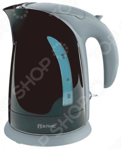 Чайник Элис ЭЛ-2021Чайники электрические<br>Удобный и простой в использовании чайник Элис ЭЛ-2021 изготовлен из термостойкого пластика. Благодаря мощности в 2200 Вт и нагревательному элементу скрытого типа, быстро вскипятит воду объемом до 1,8 литров. На рынке бытовой техники этот прибор пользуется неизменной популярностью благодаря высокому качеству, безопасности и удобству в использовании. Модель оснащена индикатором включения выключения и шкалой уровня воды. Цоколь с центральным контактом позволяет поворачивать прибор на 360 . Кабель удобно хранить в подставке. В целях безопасности имеются функции блокировки включения без воды и автоматического отключения при закипании. Благодаря стильному дизайну, чайник Элис ЭЛ-2021 впишется в любую современную кухню.<br>