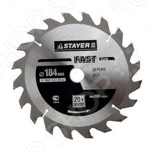 Диск пильный по дереву Stayer FAST-Line пильный диск по дереву 216x1 8x30 мм metabo 628065000