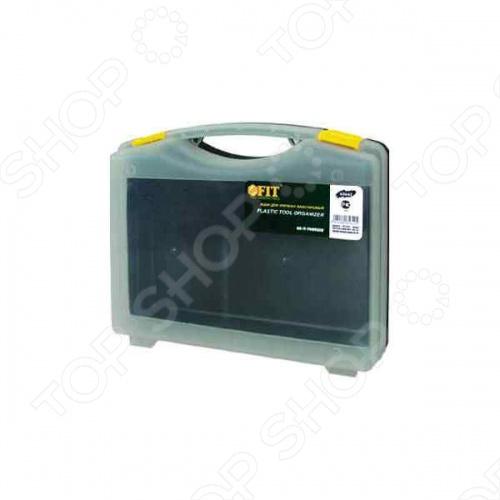 Ящик для крепежа FIT 65642 из прочного пластика. Отличный вариант для хранения болтов, шурупов, гаек, гвоздей и прочих мелких изделий. Предусмотрена рукоятка для удобства транспортировки.
