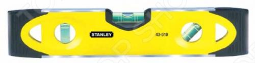 Уровень STANLEY TORPEDO предназначается для выявления отклонений разнообразных поверхностей от горизонтальности, вертикальности и от угла в 45 градусов. Инструмент обладает высоким запасом прочности, он полностью выполнен из качественных материалов. Для более удобного применения с трубами на рабочей части предусмотрена V-образная канавка. Магнитное основание облегчает работу с металлическими поверхностями.