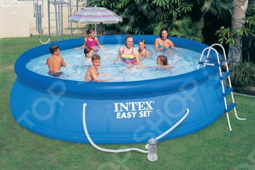 Бассейн надувной Intex 54908Надувные бассейны<br>Бассейн надувной Intex 54908 это отличный бассейн, который принесет море прямо к вам на задний двор, а также улыбку на лице детишек. Он может быть установлен практически на любой площадке. Отличное решение для родителей, которые хотят искупать или приучить своих детей не бояться воды. Семейный надувной бассейн, который послужит превосходным местом для отдыха всей семьёй дети от 6 лет в жаркую, сухую, летнюю погоду. Бортики защитят от травм и ушибов. Устанавливается достаточно быстро, всего 10-15 мин. Производительность насоса - 3,785 л ч. Преимущества:  Надув один раз можно пользоваться весь сезон, только изредка меняя воду это делается тоже очень легко, так как имеется специальный клапан для слива .  Широкие борта позволят взрослым присесть, а детям играть на стенках.<br>