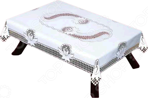 Скатерть Haft 46080-130Скатерти. Салфетки<br>Скатерть Haft 46080-130 это основной элемент классического оформления обеденного стола. Скатерть прекрасно дополняет комплект столового белья, создав атмосферу изысканности на вашей кухне или в столовой, подчеркнув при этом радушие хозяев. Скатерть изготовлена из полиэстера, который практически не мнется, легко отстирывается от загрязнений, не притягивает пыль и не требует глажки. Благодаря этому ткань способна выдержать сотни стирок без потери цвета и прочности. Обычные материалы со временем выгорают, на них собирается пыль, появляются неприятные запахи. С полиэстером этого не происходит скатерть почти не пачкается и не впитывает запахи, при этом вы очень легко ее постираете и высушите. Благодаря качественным материалам и стильному виду, скатерть потрясающе приятная на ощупь и гармонично сочетается с посудой и аксессуарами любой фактуры и цвета.<br>