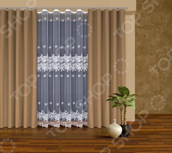 Комплект штор Haft 203040-250Шторы<br>Комплект штор Haft 203040-250 это качественный оконный занавес, который преобразит интерьер и оживит атмосферу, придав всей комнате домашний уют, завершенность и оригинальность. Шторы изготовлены из полиэстера, который практически не мнется, легко отстирывается от загрязнений, не притягивает пыль и не требует глажки. Благодаря этому ткань способна выдержать сотни стирок без потери цвета и прочности. Обычные материалы со временем выгорают, на них собирается пыль, появляются неприятные запахи. С полиэстером этого не происходит штора почти не пачкается и не впитывает запахи, при этом вы очень легко ее постираете и высушите. Интерьер квартиры или дома, в котором окна не украшены занавесом, сегодня трудно представить, поэтому шторы станут отличным подарком для любого человека. Купить шторы способ недорого, быстро и изящно преобразить дизайн домашнего интерьера!<br>