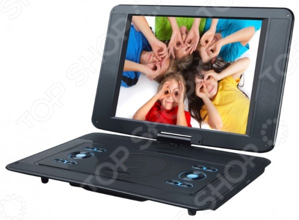 фото DVD-плеер портативный Rolsen RPD-15D07TBL, DVD и Blu-Ray плееры