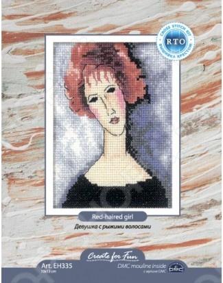 Набор для вышивания крестиком RTO «Девушка с рыжими волосами»Наборы для вышивания<br>Набор для вышивания крестиком RTO Девушка с рыжими волосами это отличный набор для вышивания крестиком. С помощью элементов набора вы сможете создать пейзаж, который будет схож со старыми фотоснимками. Цвета передадут незабываемую атмосферу вышитых картин, картина скрасит ваш досуг и позволит отточить свои навыки в сфере вышивания. Своими руками вы сможете создать уникальные изображения, которыми можно украсить дом или офис.<br>