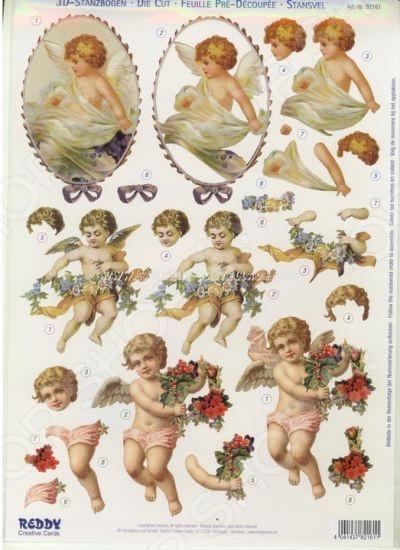 фото Аппликация вырубная для объемных рисунков Reddy Creative Cards «Ностальгия: Ангелы», купить, цена